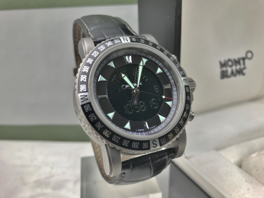 Lot 24 - Montblanc 7062 Titanium Multifunction Watch 44mm Bezel