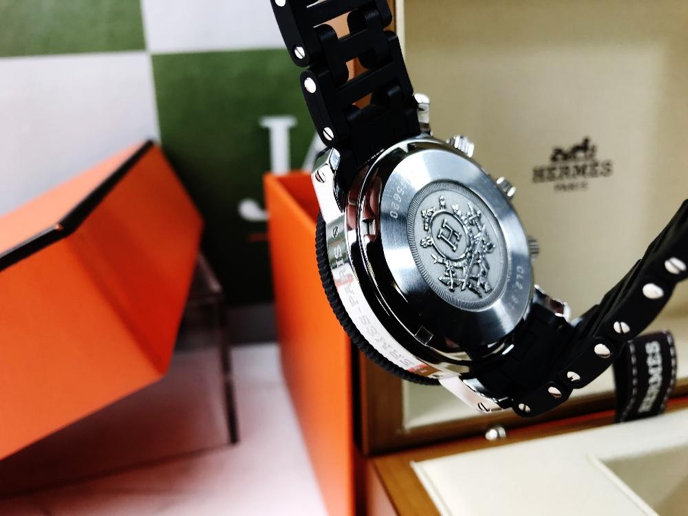Lot 16 - Hermes Clipper Divers Chronograph Date Ref: CL2.915