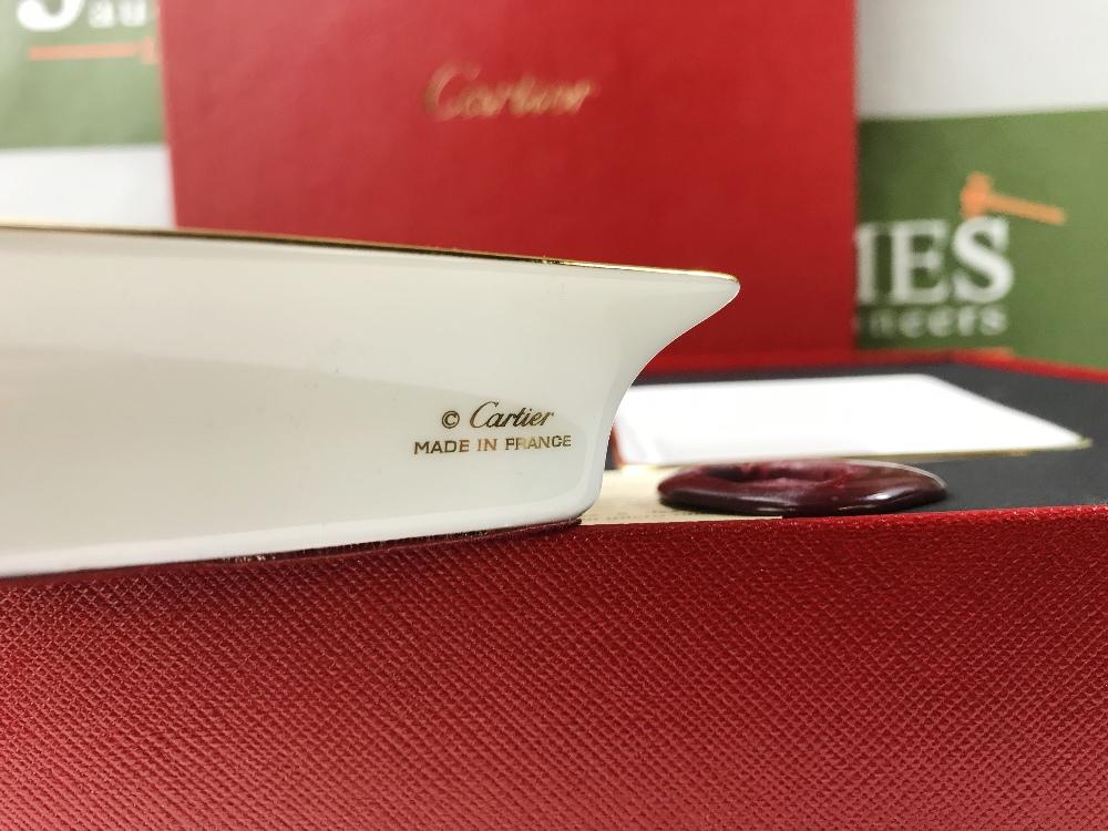 Lot 43 - Cartier Porcelain Trinket Bowls In Original Packaging