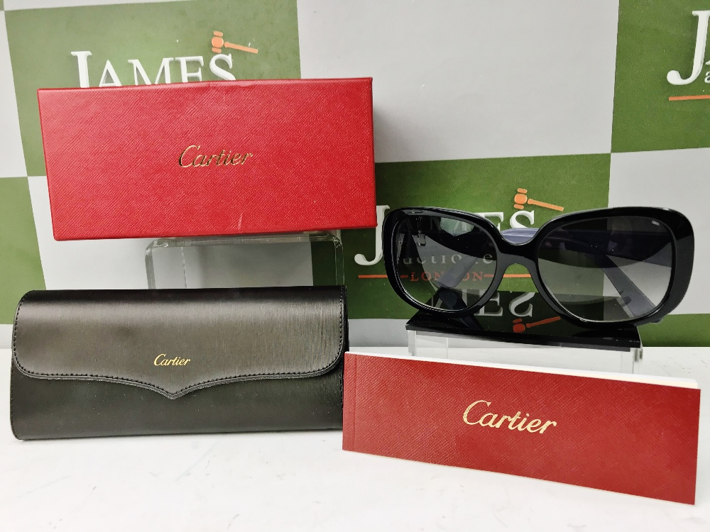 Lot 38 - Cartier Oversized Style Ladies Sunglasses