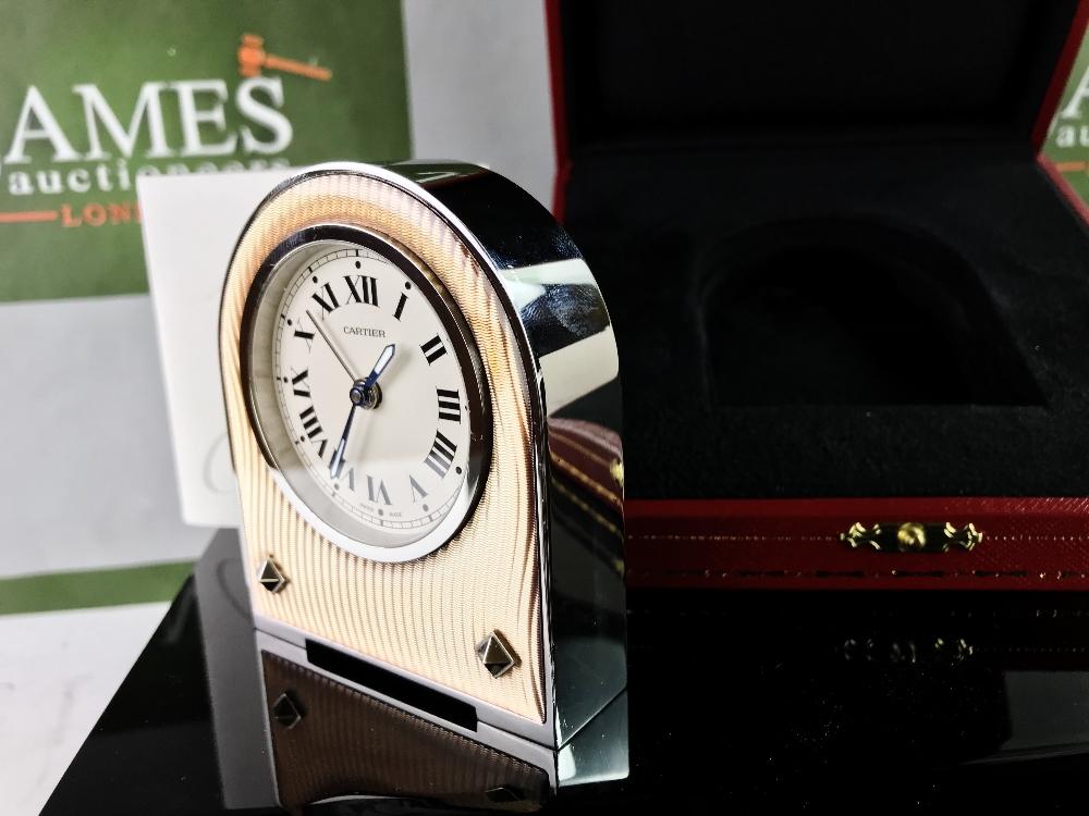 Lot 8 - Cartier Deco Travel Alarm Clock