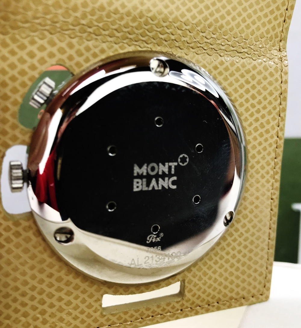Lot 25 - Montblanc Travel Alarm Clock