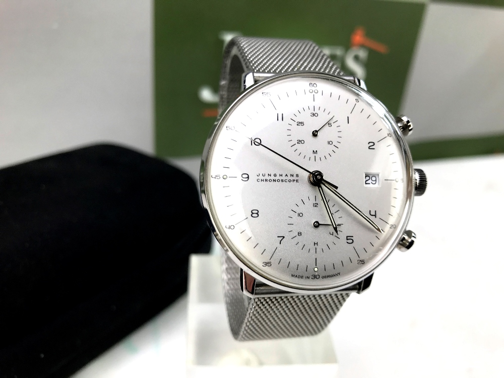 Lot 21 - Junghans Max Bill Chronoscope Ref 27.4003