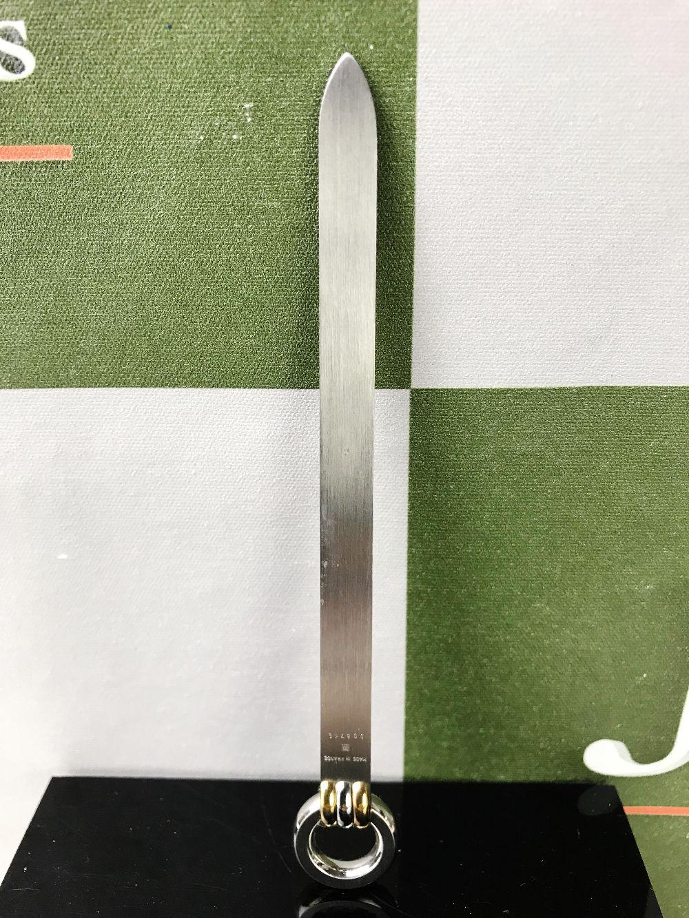 Lot 46 - Cartier Letter Opener, Gold Plated Must de Cartier Edition