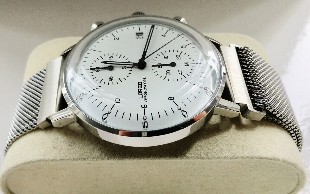 Lot 18 - Loreo Chronoscope Quartz Max Bill Homage Watch