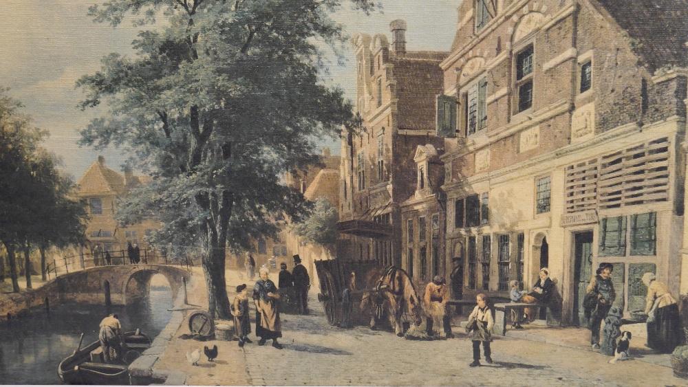 Lot 48 - Cornelis Springer (Dutch 1817-1891) The Havendijk, Enkhuizen, in summer , 1868