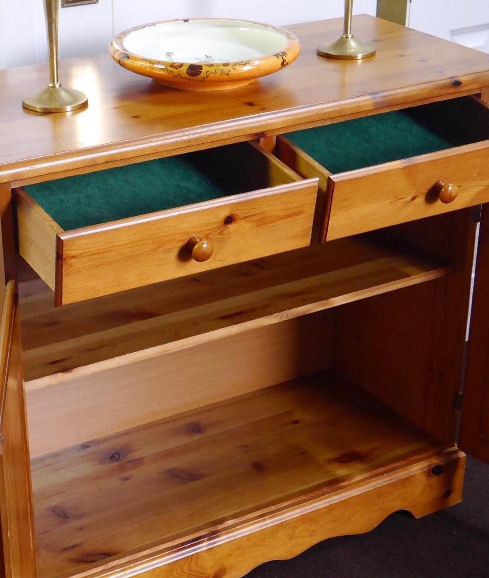 Lot 20 - Vintage Pine Cabinet Buffet
