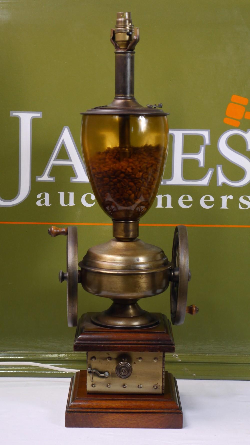 Lot 10 - Vintage Coffee Grinder Table Lamp