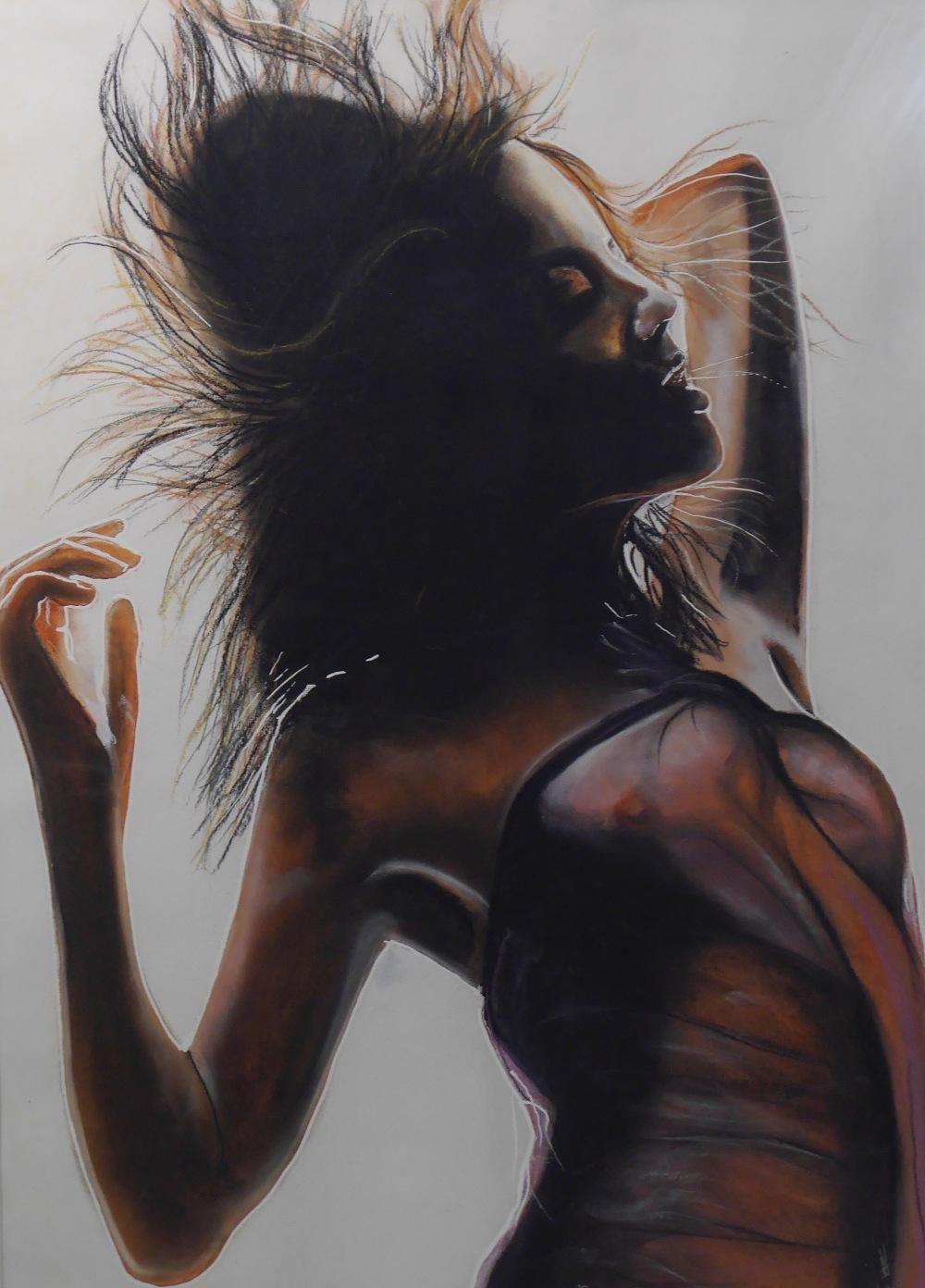 Lot 1 - Nude Art - Portrait of a Nude Female Signed AF