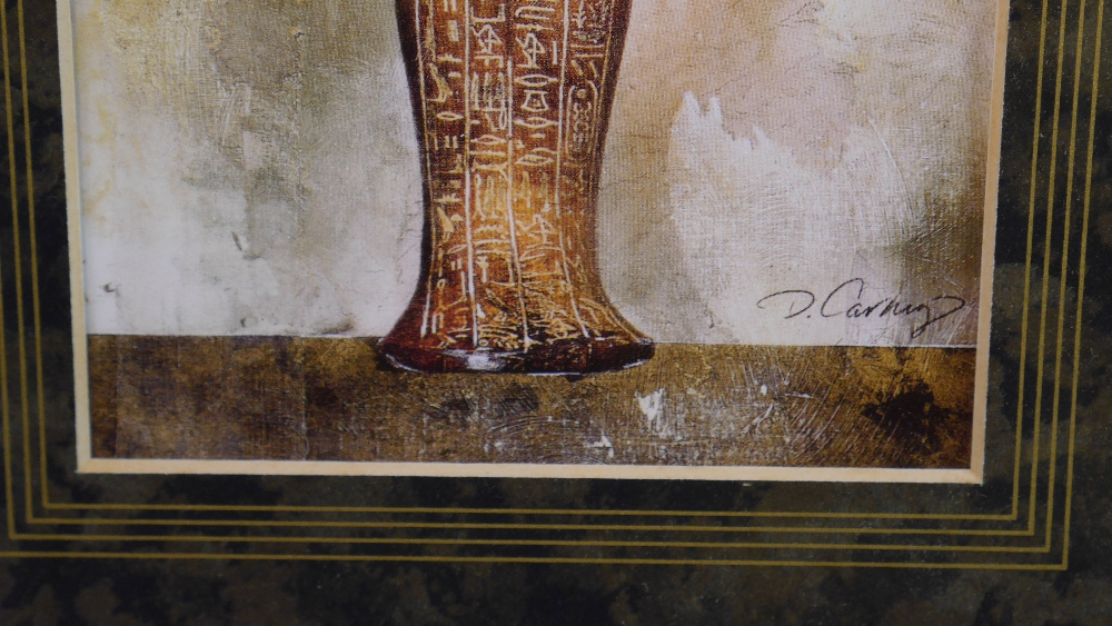 Lot 54 - Dennis Smith Carney (American 1960 - ) Egyptian Antiquity I and II