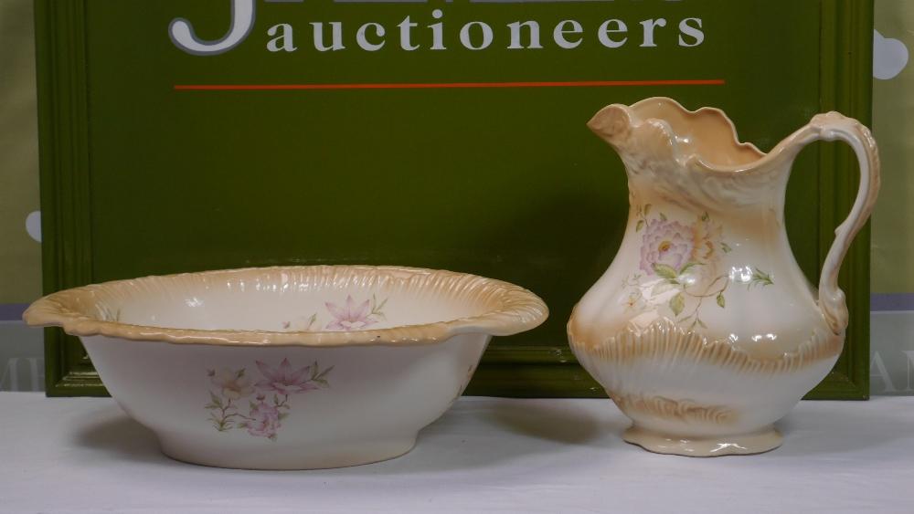 Lot 12 - Vintage Pottery Wash Set Jug and Bowl