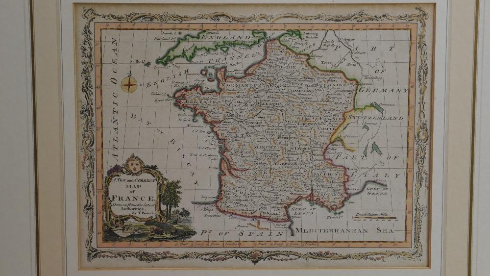 Lot 57 - Thomas Bowen (1732 - 1790) Early Map of France