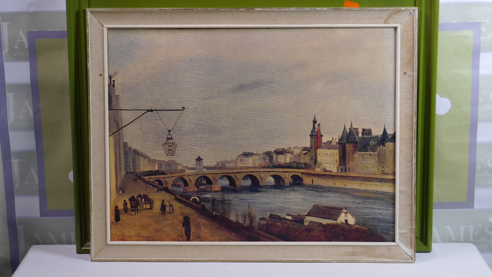 Lot 49 - Jean-Baptiste-Camille Corot (French 1796 - 1875) The Pont-au-Change and the Palais de Justice