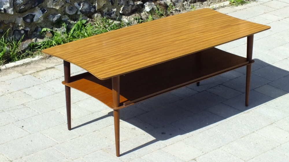 Lot 29 - Mid Century Modernist Two Tier Coffee Table