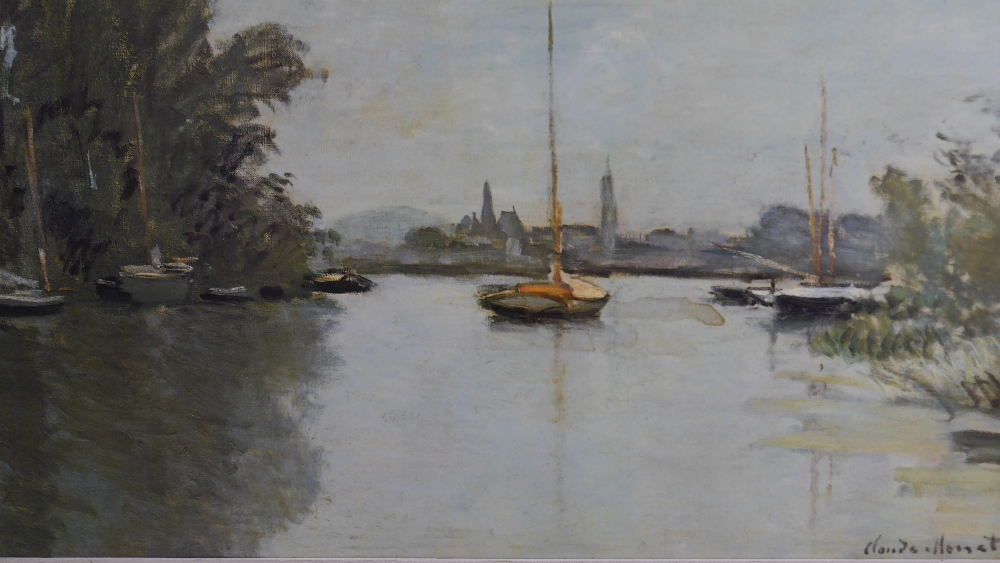 Lot 50 - Oscar-Claude Monet (French 1840 - 1926) Argenteuil - Sailboats on the Seine