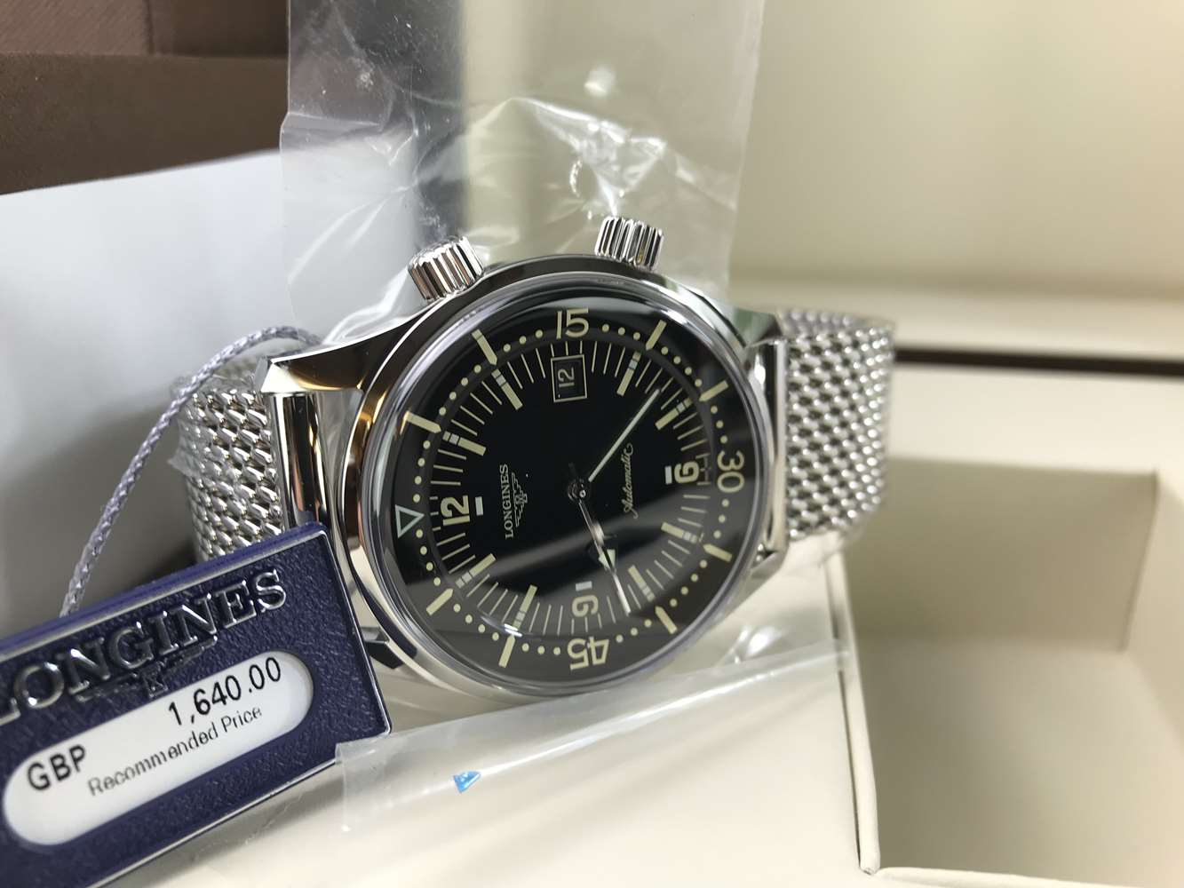 Lot 303 - Longines Legend Diver Date Watch, Automatic. New example