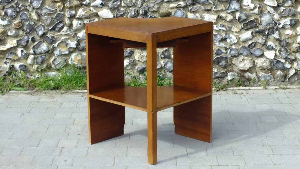 Lot 23 - Mid Century Walnut Corner Unit with Drawer