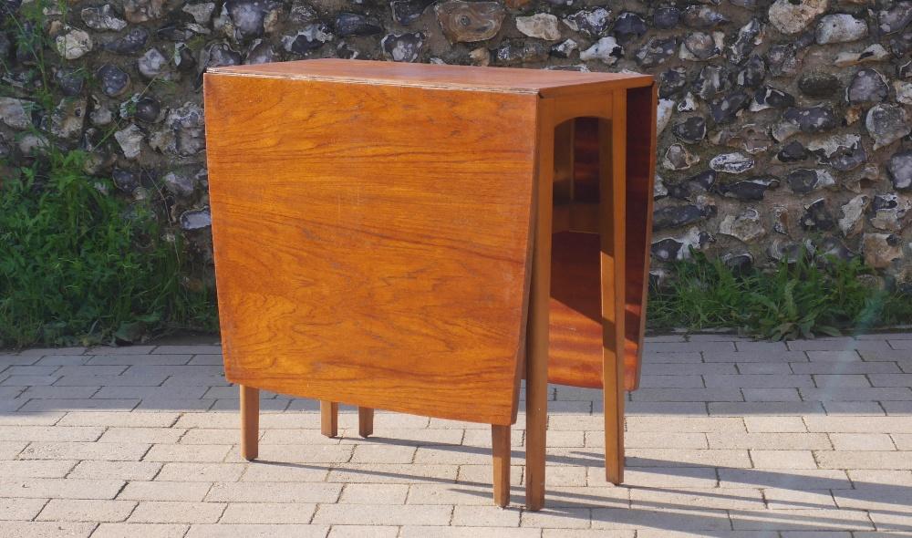 Lot 3 - Mid Century Modernist Teak Drop Leaf Gate Leg Table