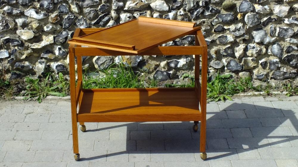 Lot 24 - Danish Mid Century Teak Bar Cart Drinks Trolley