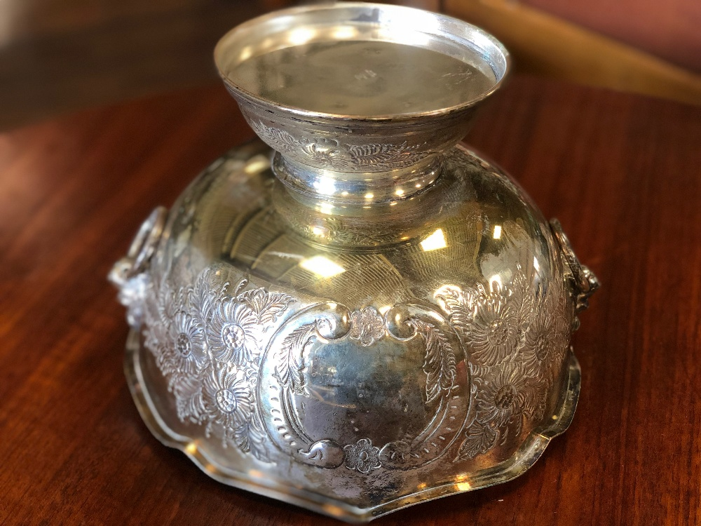 Lot 47 - Vintage Silver Plated Punch Bowl Set
