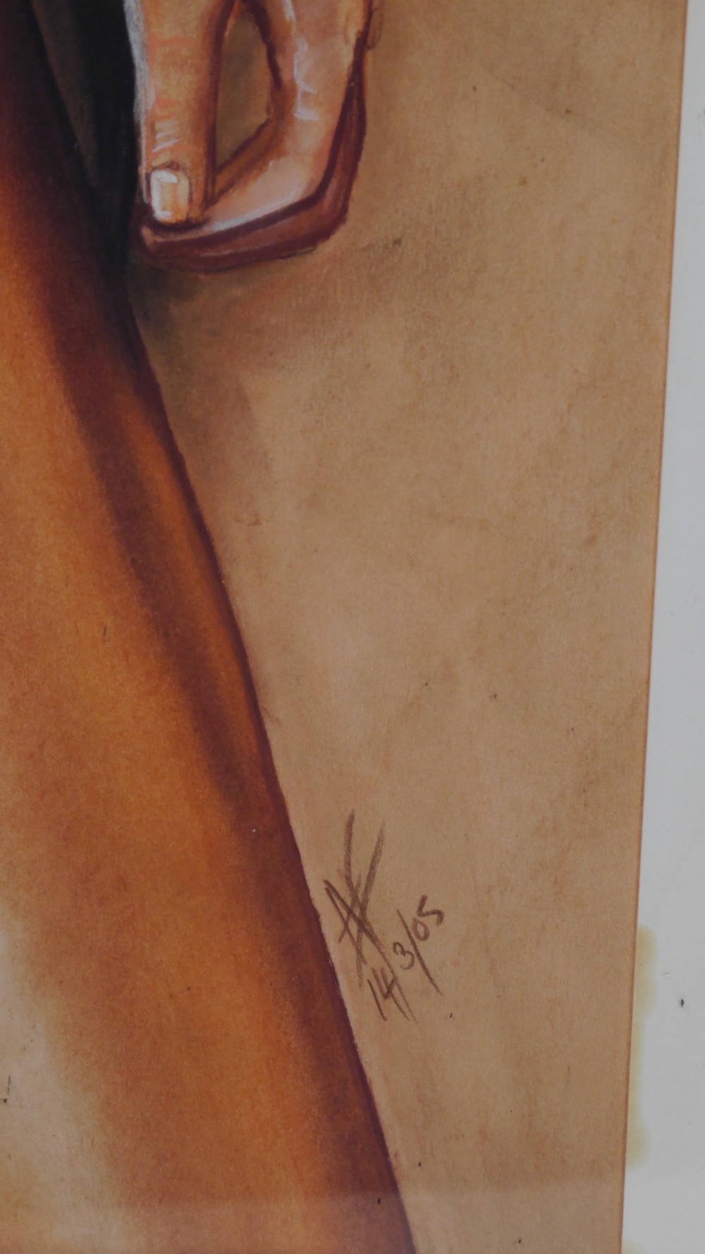 Lot 2 - Nude Art - Portrait of a Nude Female Signed AF