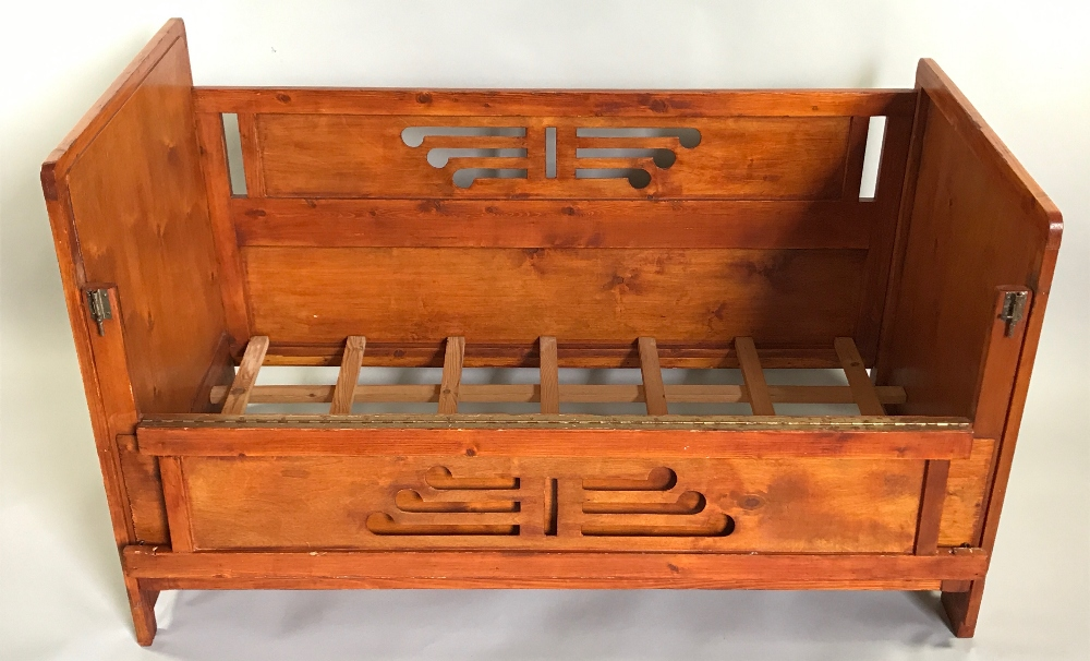 Lot 42 - Vintage Pine Baby Crib