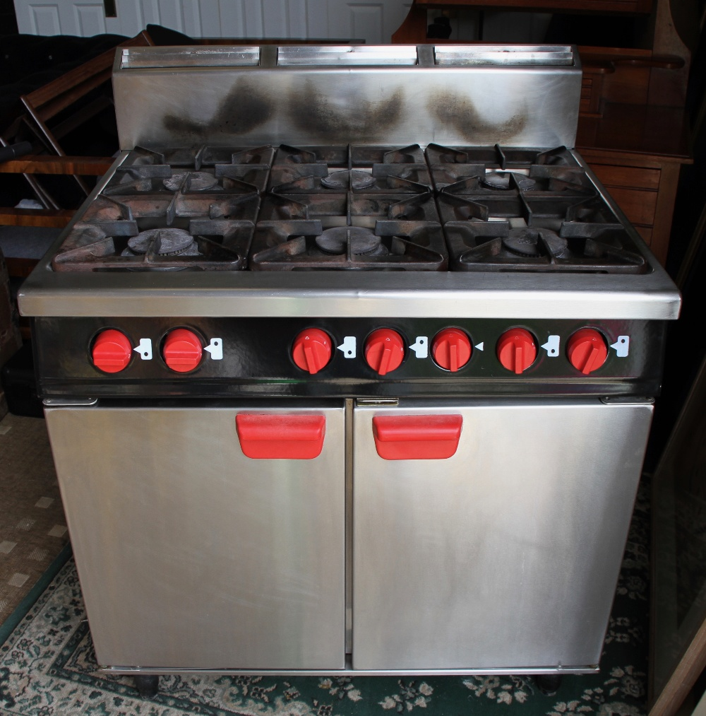 Lot 21 - BARTLETT F18G/911 6 RING NATURAL GAS COOKER WITH OVEN
