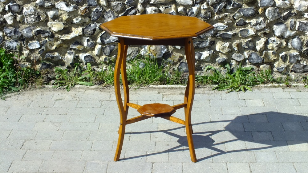 Lot 26 - Vintage Octagonal Top Two Tier Side Table