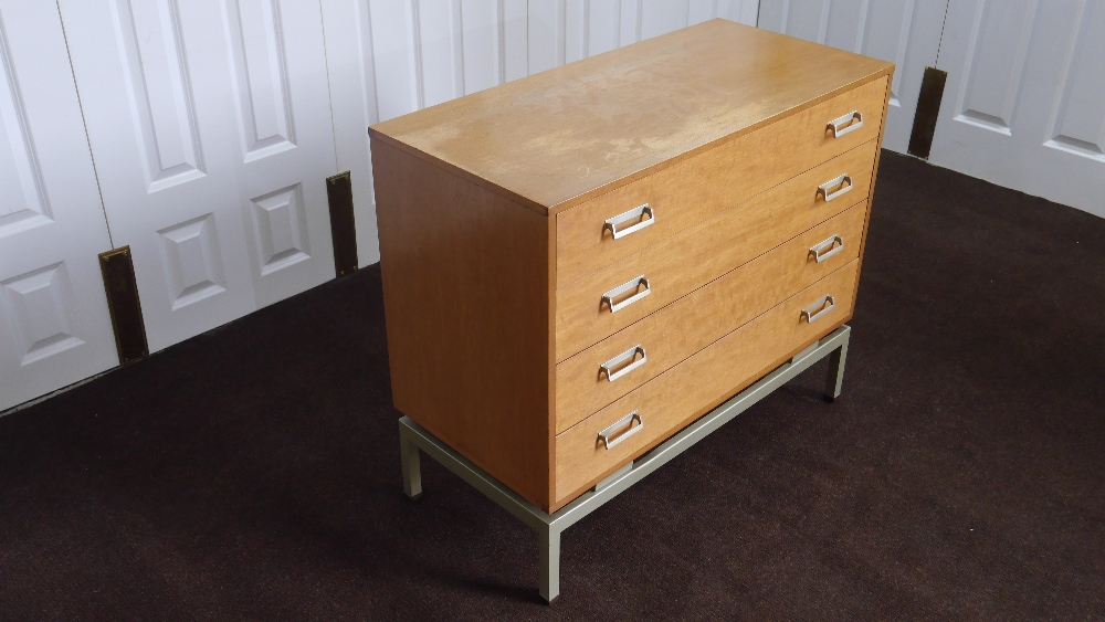 Lot 18 - 1950s G Plan Limba Chest of Drawers