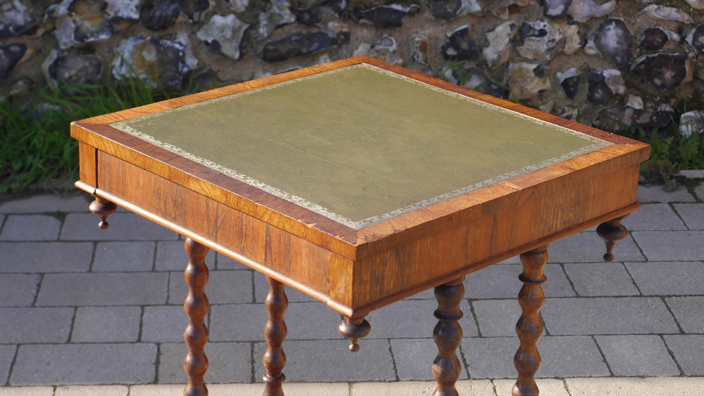 Lot 4 - Antique Leather Top Rosewood Side Table