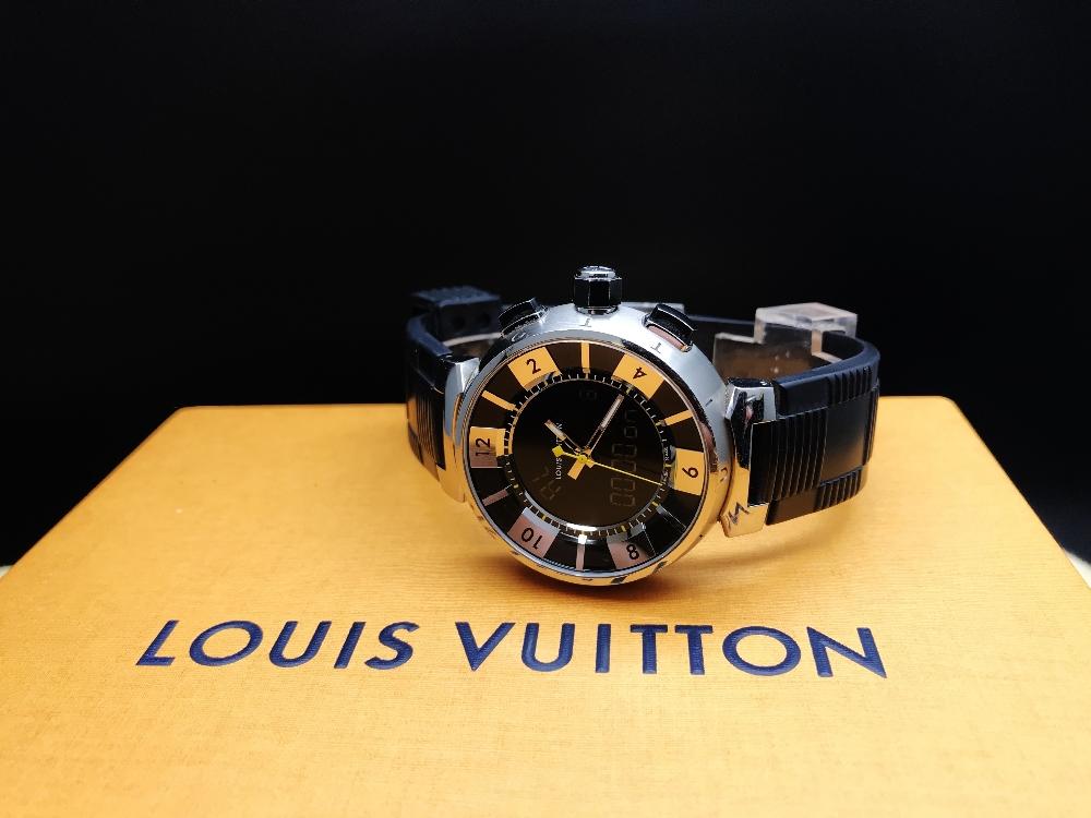 Lot 22 - Louis Vuitton Tambour Black Analogue & Digital Edition 41.5MM, Ref Q118F