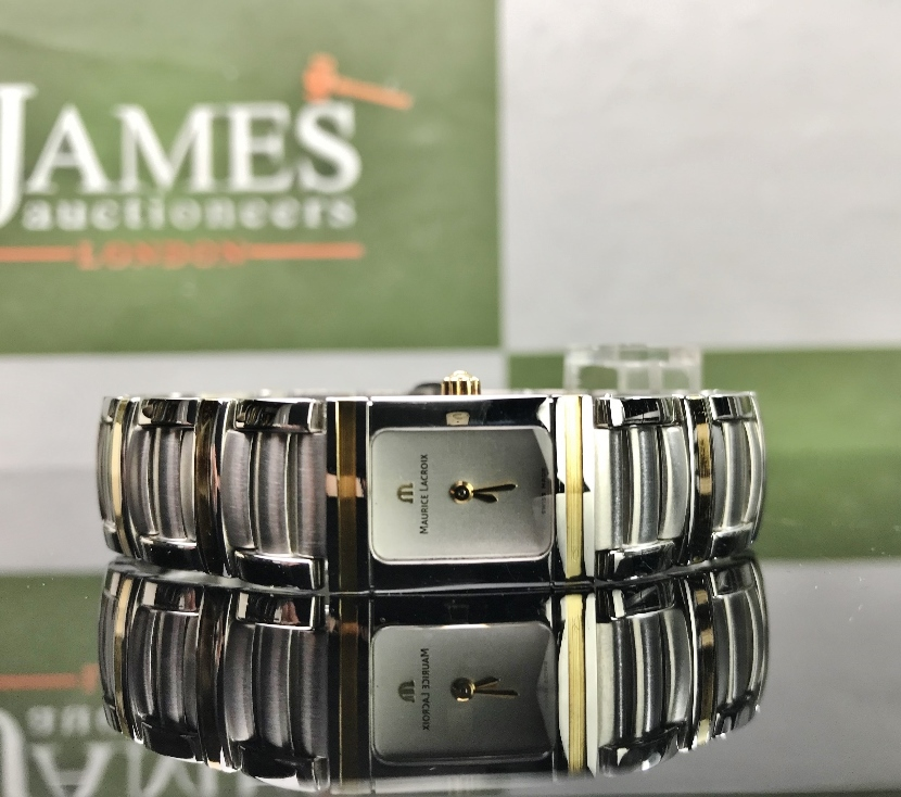 Lot 32 - Maurice Lacroix Lady's Miros Gold & Pearl Bracelet Watch
