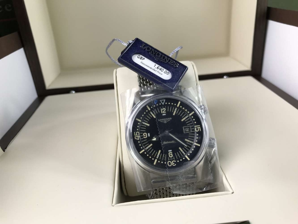Lot 23 - Longines Legend Diver Date Watch, Automatic. New example