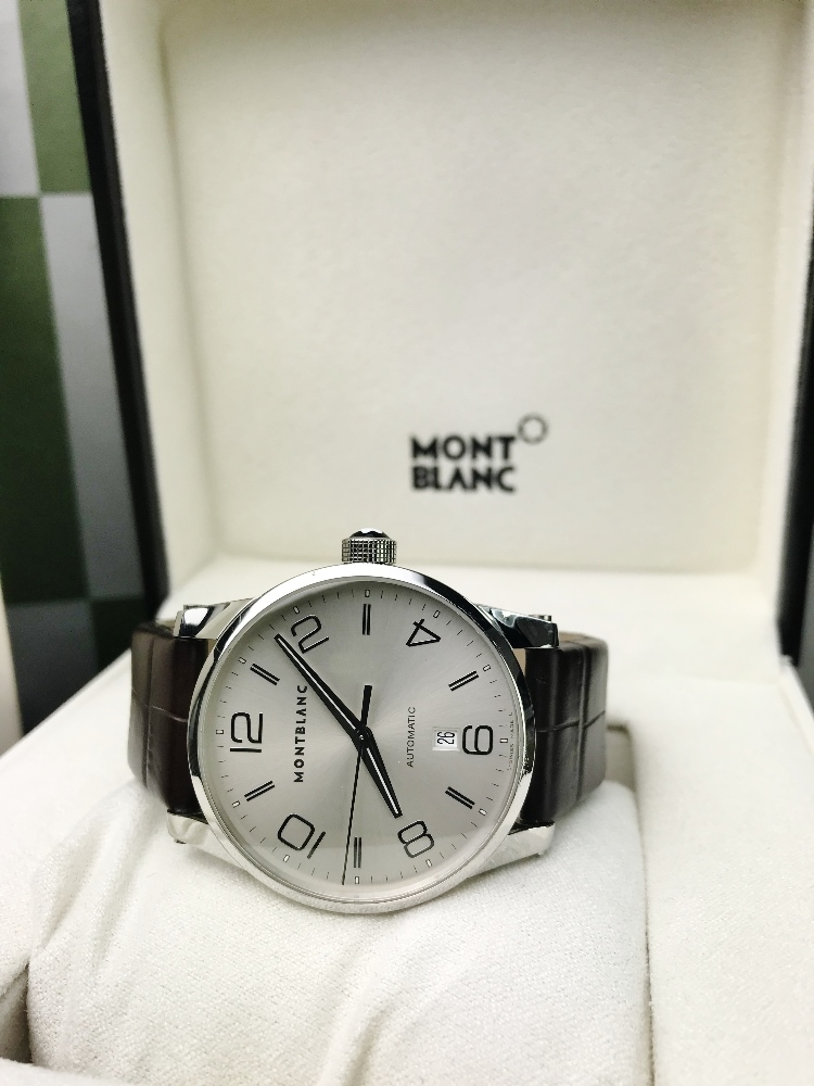 Lot 2 - Montblanc Timewalker, Automatic, Brown Alligator Strap, Serviced By MB
