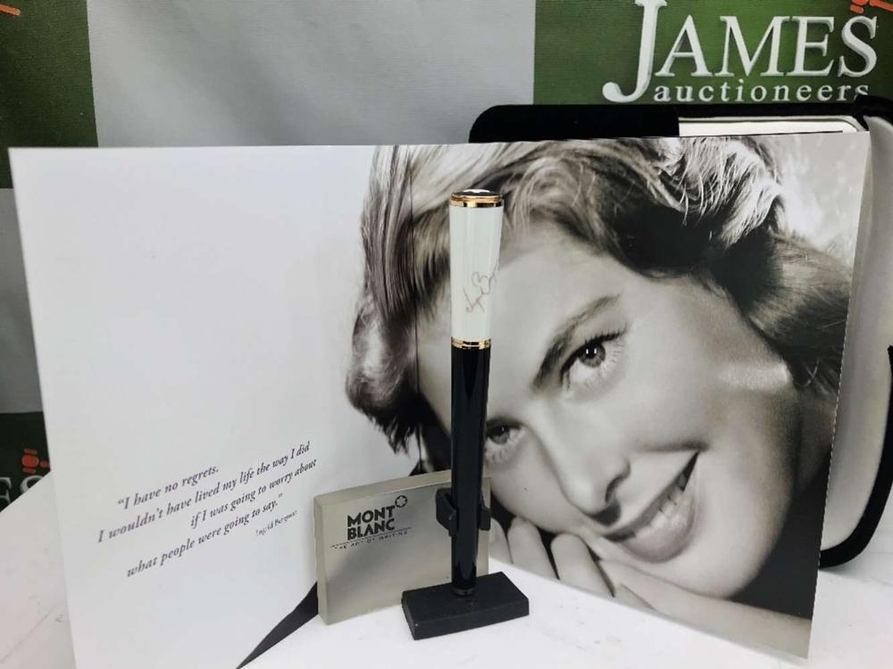 Lot 78 - Montblanc Ingrid Bergman la Donna Ballpoint Pen Rose Gold Edition