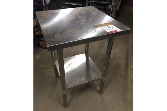 Lot 13 - Stainless Steel Preparation Table w/ Undershelf