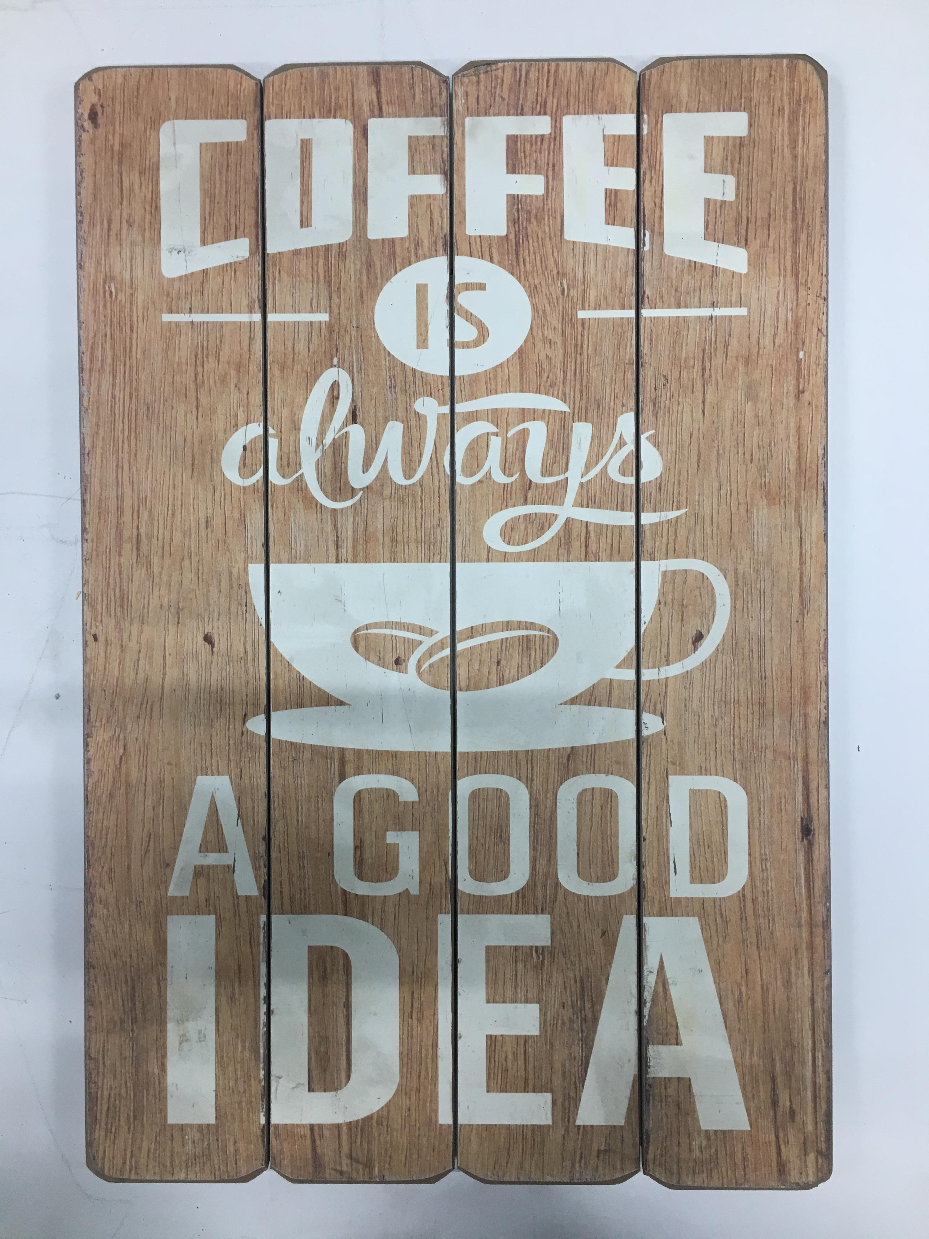 Lot 22 - Chalkboard and Coffee Sign