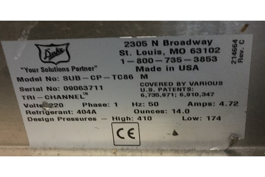 Lot 1 - Duke SWD700-86FL M Chilled & Display Unit