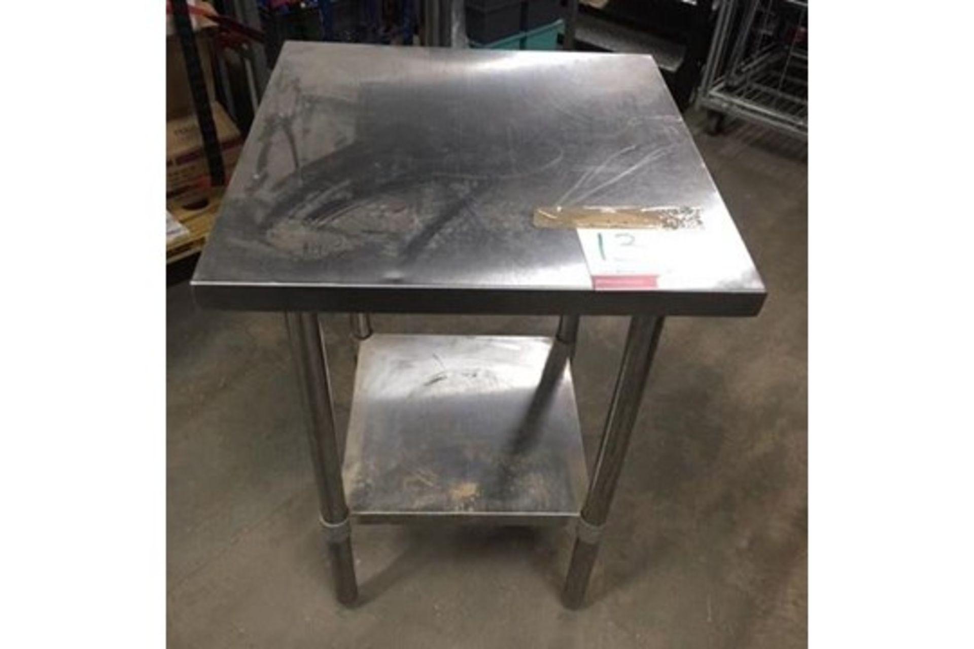 Lot 13 - Stainless Steel Preparation Table w/ Undershelf