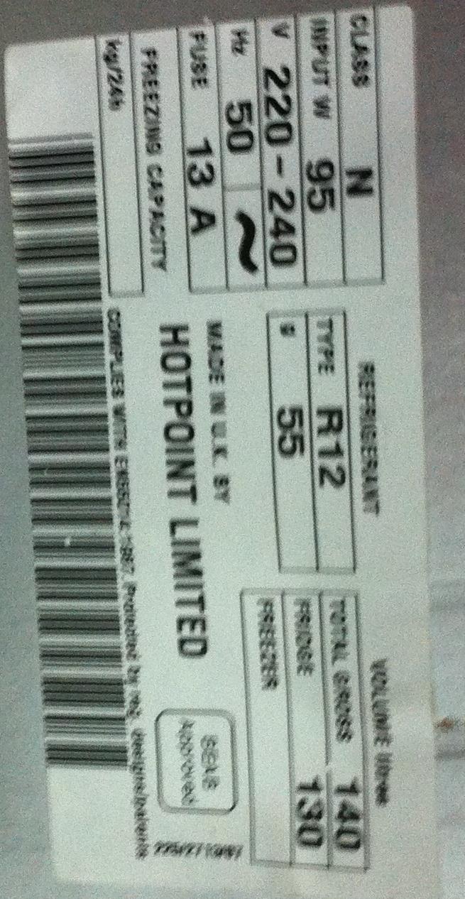 Lot 26 - Hotpoint Larder 8112 Fridge
