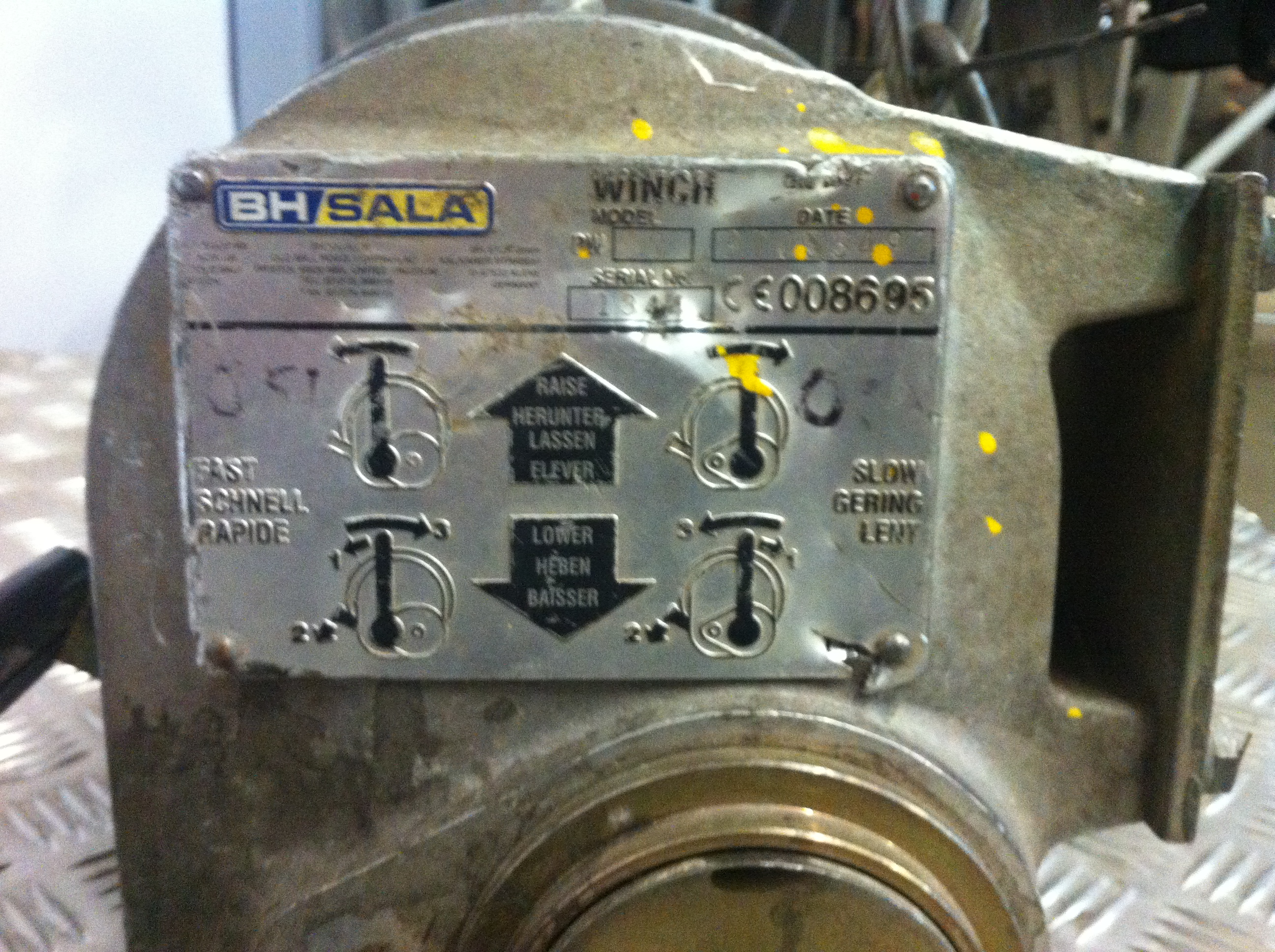 Lot 27A - BH Sala PW60 Winch