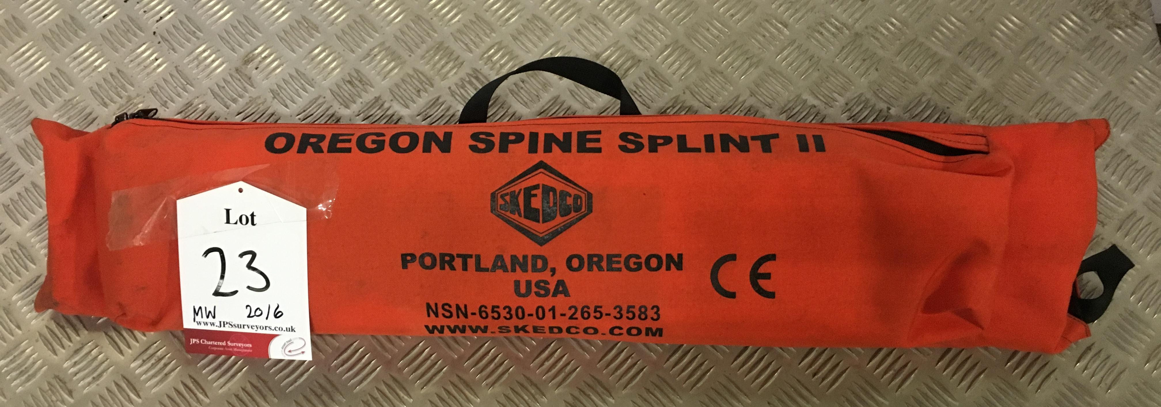 Lot 23 - Skedco Oregon spine splint