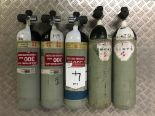 Lot 4 - 5 x Sabre 200 Bar Compressed Air Cylinder with Saver Valves