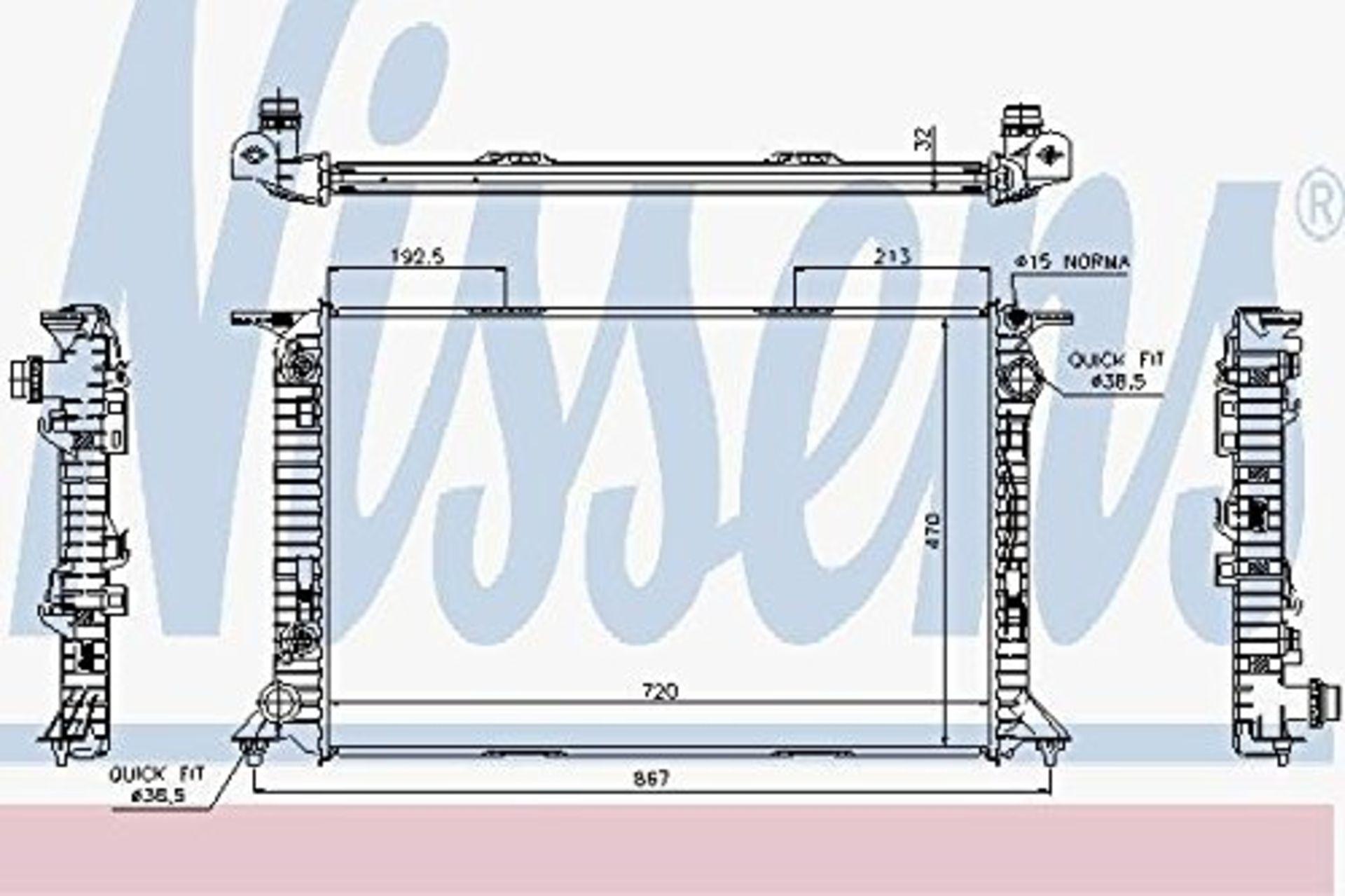 Lot 44 - Nissens 85636 Fan, radiator