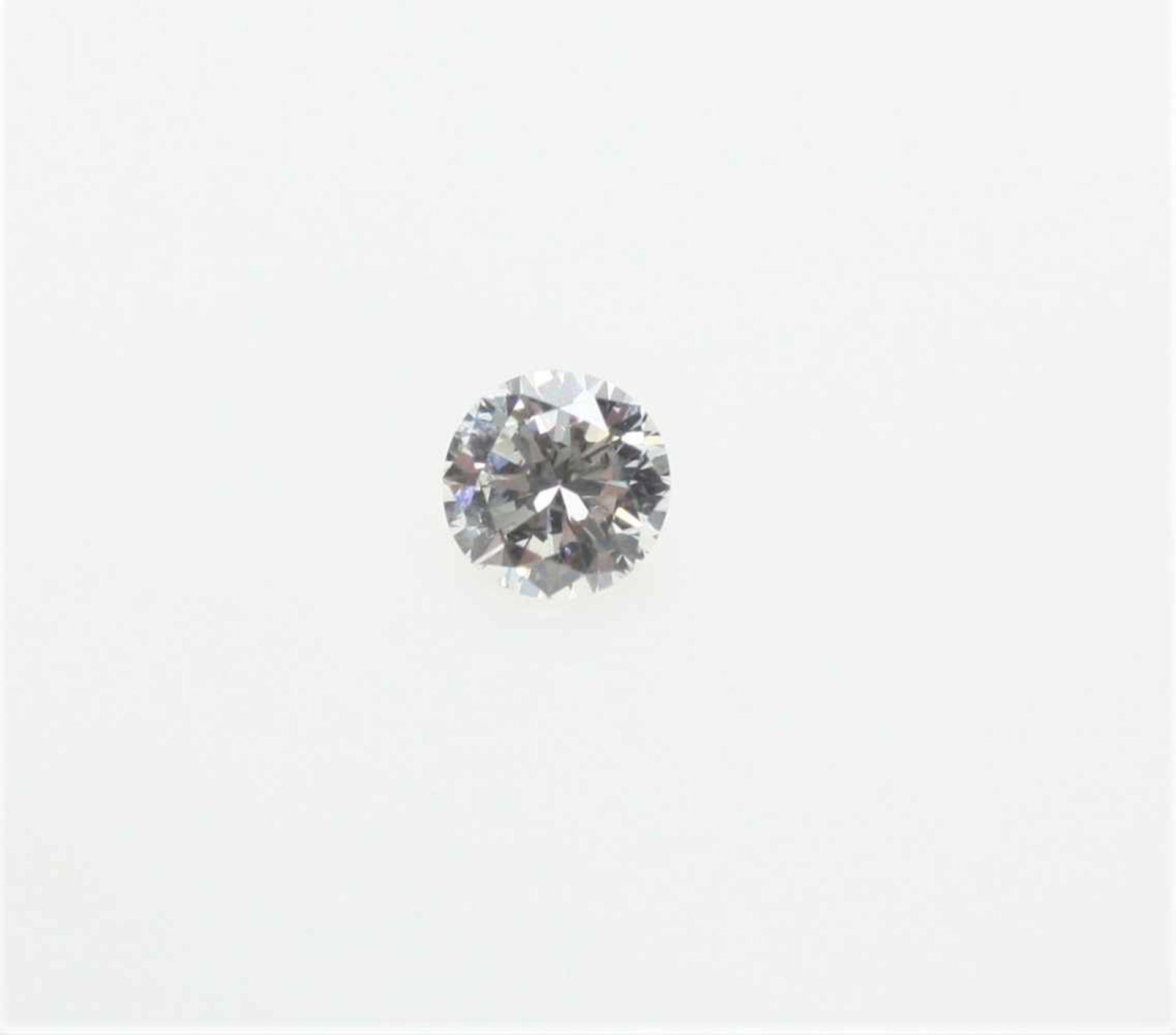 Los 20 - Ein ungefasster Diamant in Brillantschliff ca. 1,0 ct, in leicht abweichender Farbe, fast sauber