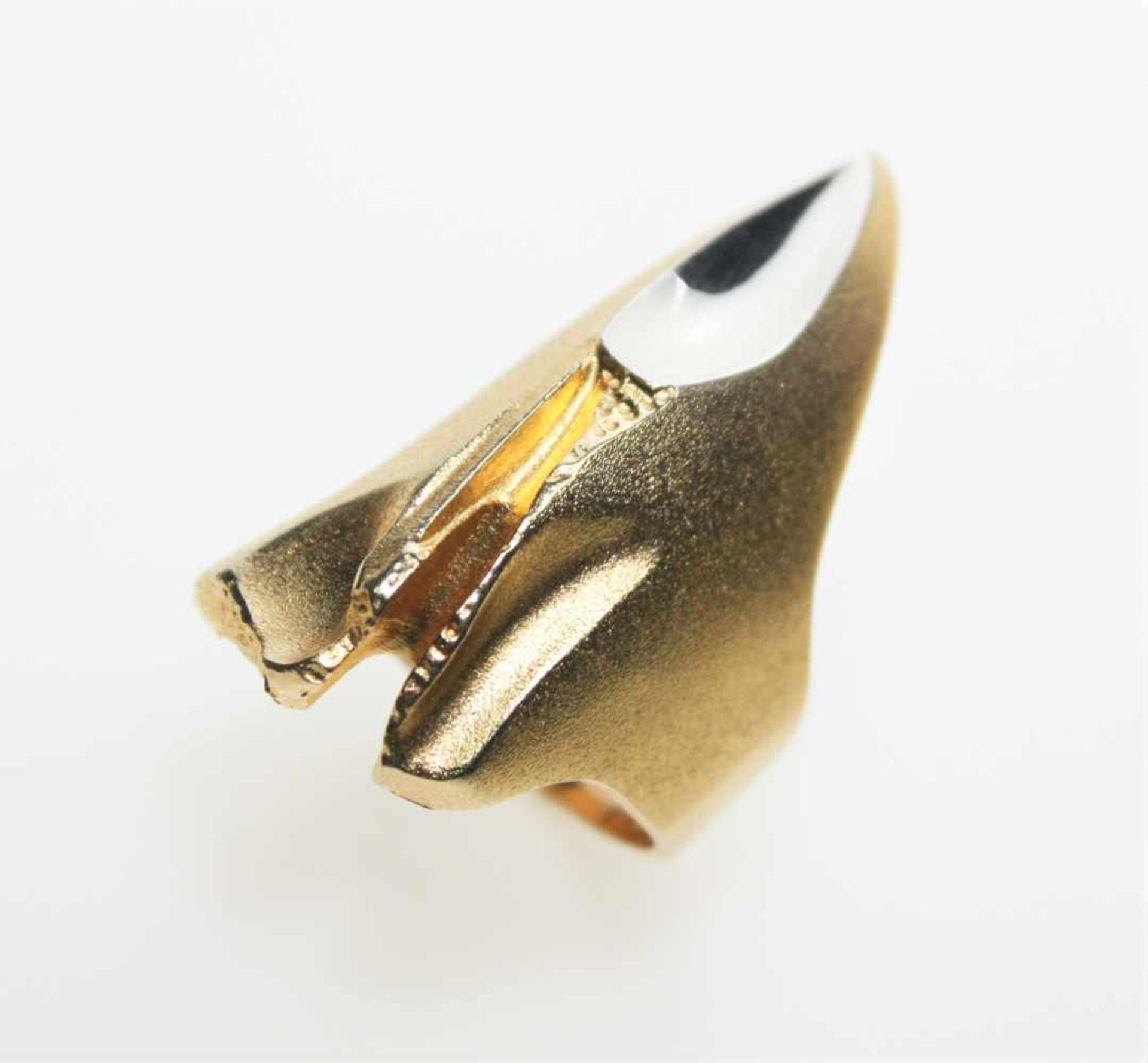 "Los 27 - Moderner Ring in Gold/Platin 750/f gest. ""Lapponia"", Model Ungia, neuwertig, Weite ca. 17.Brgw. 17,7"