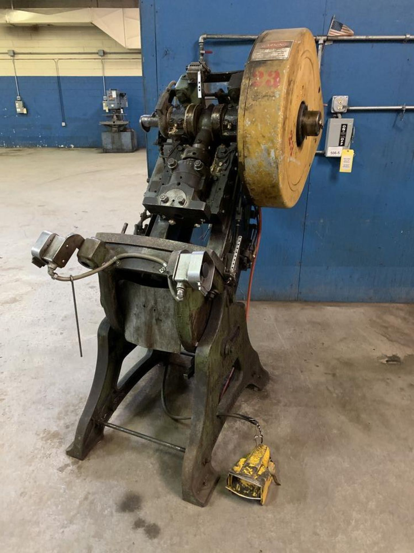 Lot 10 - Walsh Air Actuated Mechanical Clutch O.B. I. Press