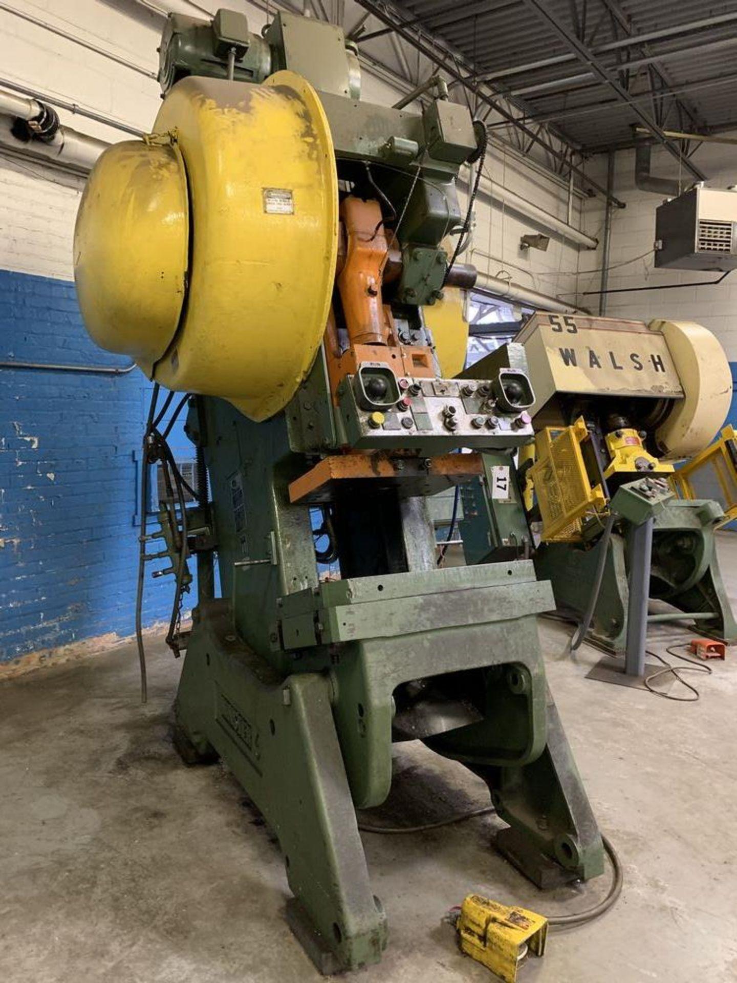 "Lot 17 - 60 Ton Minster #101-BG O.B.I. Press, 4"" str, 13"" SH, 45-90 SPM, air clutch"