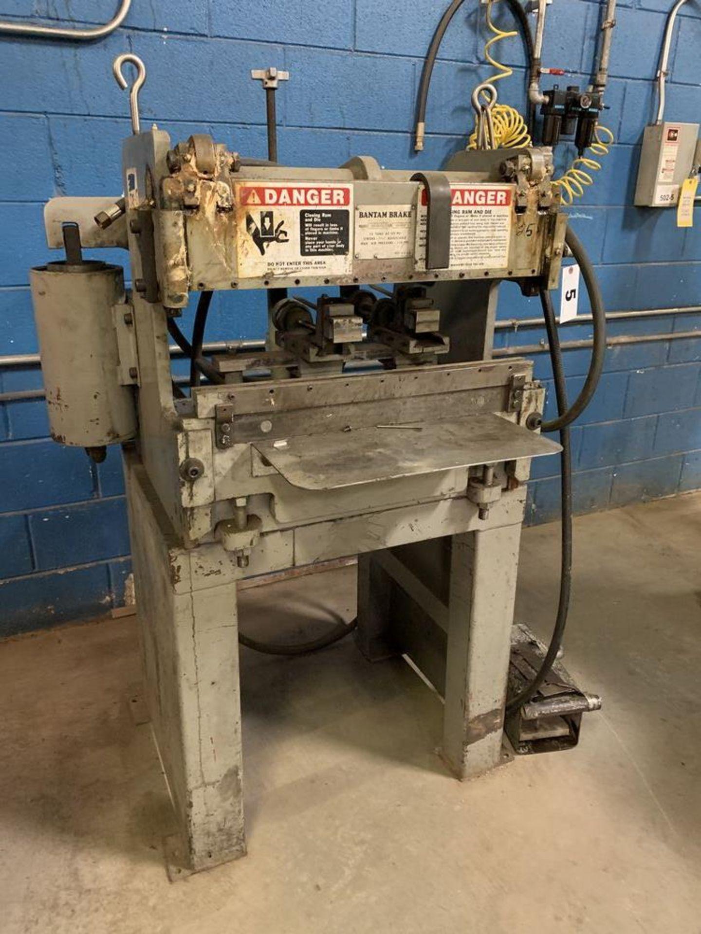Lot 5 - 12 Ton Bantam Model B2120GFO Pneumatic Press Brake, 12 Ton x 2'