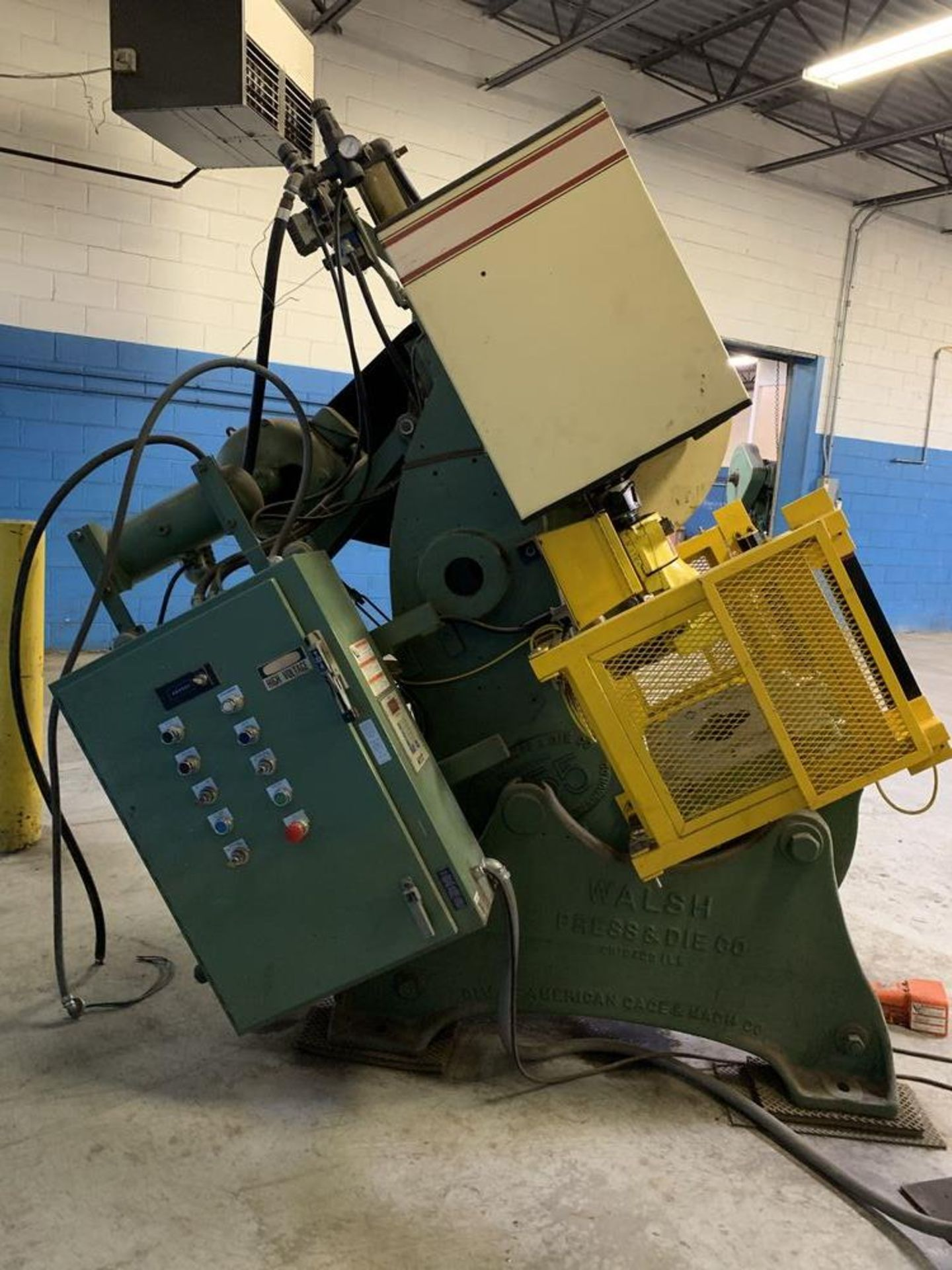 "Lot 18 - 55 Ton Walsh #55 O.B.I. Punch Press, 2.5"" str., 10"" SH, 90 SPM, air clutch"